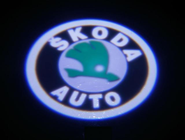Interlook LED logo projektor ŠKODA FABIA, OCTAVIA, ROOMSTER, SUPERB